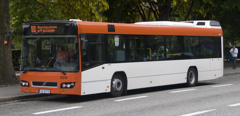 Buss bra Bergen til Glesvær