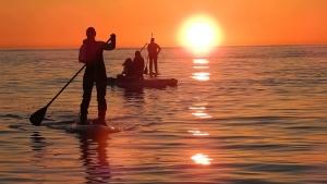 Suptur til solnedgang